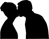 silhouette embrasser